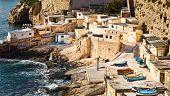 Fishermens Huts In Valletta, Malta