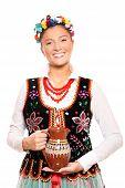 Traditional Polish Girl poster