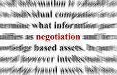 foto of bartering  - a conceptual image representing a focus on the word negotiation - JPG