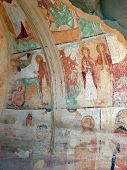 Murals In Cave Refectory. David Gareja Monastery. Kakheti.  Georgia.