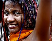 Madagascan Girl With Colourful Braids