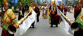 Tibetischen Lama Schlag Long Horn
