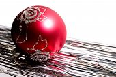 Red Christmas Ball And Spangle