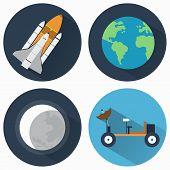 ������, ������: Astronomy Icons Set