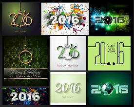 picture of dinner invitation  - 2016 Happy New Year Background Collection for your Christmas Flyers - JPG