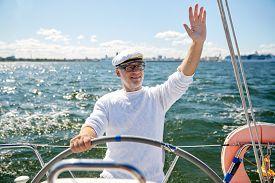 pic of waving hands  - sailing - JPG