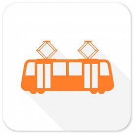 pic of tram  - tram flat icon - JPG