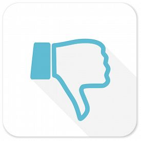 stock photo of dislike  - dislike blue flat icon - JPG