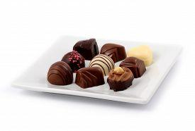 stock photo of bonbon  - Dark chocolate - JPG