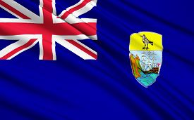 stock photo of ascension  - The National flag Islands Saint Helena Ascension and Tristan da Cunha  - JPG