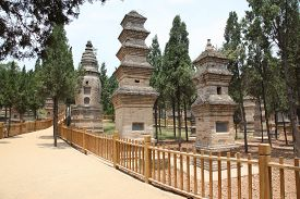 foto of empty tomb  - The Pagoda Forest at the Temple in Shao Lin located in XiAn China - JPG
