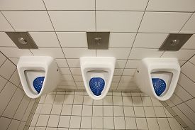 picture of urinate  - Many urinals in a toilet - JPG