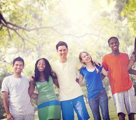 picture of huddle  - Diversity Friends Friendship Teamwork Huddle Concept - JPG