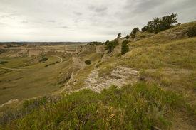 image of western nebraska  - A scenic overlook in western hilly Nebraska - JPG
