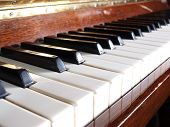 color photograph on the theme of musical instruments. a piano with keys