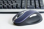 Computer mouse and keyboard.