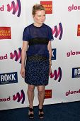 LOS ANGELES - APR 10: Kirsten Dunst arrives at the 22nd annual GLAAD Media Awards at Westin Bonavent