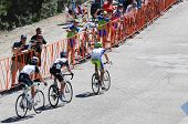 MT. BALDY, CA - MAY 21: Damiano  Caruso, Christian Vandevelde, Andy Schleck race up the final ascent