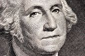 George Washington close up from one dollar bill