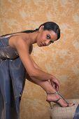Lady Fitting Shoe