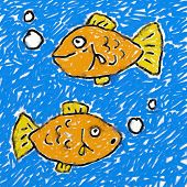 Childs Fish Drawing