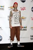 LAS VEGAS - MAY 22:  Travis Barker in the Press Room of the 2011 Billboard Music Awards at MGM Grand Garden Arena on May 22, 2010 in Las Vegas, NV.