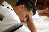Sleepy College Student