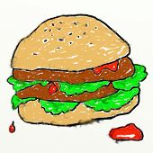 Childs Burger Drawing
