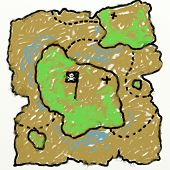 Childs Treasure Map Drawing
