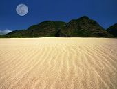 Rippled Sand Landscape Offset Moon