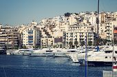picture of piraeus  - View of Piraeus Marina in athens Greece - JPG