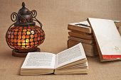 Old Oriental Lamps And Old Books