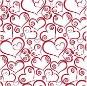 Patrón de San Valentín sin costura