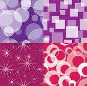 Four seamless disco patterns