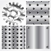 Seamless metal textures and gear