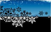 Stylized Grunge Snowflake Background