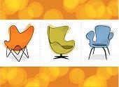 Retro Chair Trio