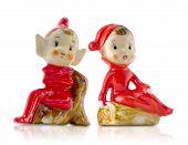 Vintage Porcelain Christmas Elves