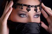 sensual female eyes, Arabic style