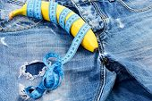 Mens Denim Pants Crotch With Banana As Male Sexuality Concept poster