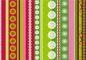 Bright stripes Christmas  background with snowflakes elements - vector illustration