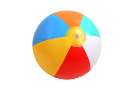 picture of beach-ball  - Beach ball isolated on pure white background - JPG