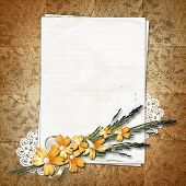 Page For A Photo On The Abstract Background With A Lace.