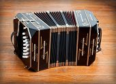 stock photo of aerophone  - A Traditional tango musical instrument called bandoneon - JPG