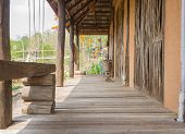 The Way In Front Of Exterior Design House. Exterior Design House With Natural Condition. Country Lof poster