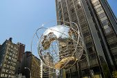 Globe At The Columbus Circle In New York