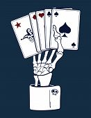 Skeleton Hand Holding Cards