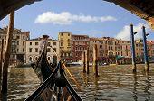 Gondolero en el gran Canal, Venecia