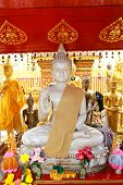 buddha statue in Wat Phrathat Doi Suthep in Chiang Mai, Thailand