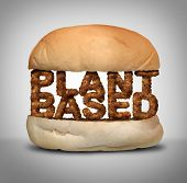 Plant Based Burger As Fake Meat Or Vegan Hamburger Representing A Vegetarian Protien In A 3d Illustr poster